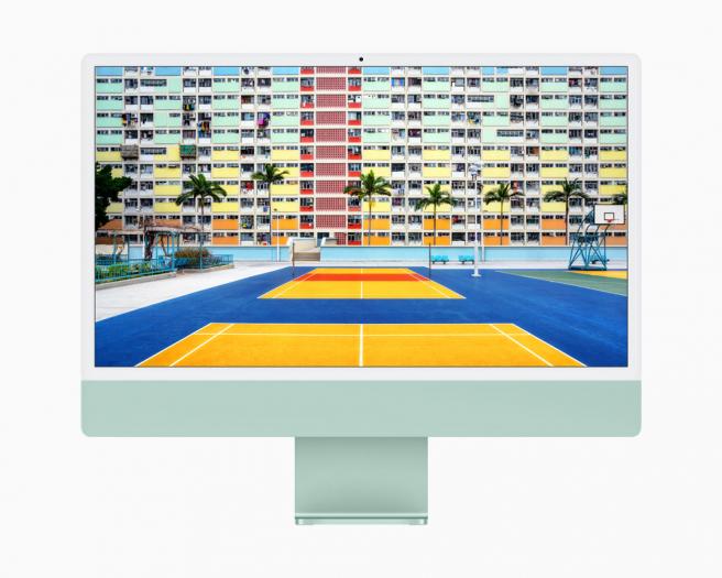 El nuevo iMac cuenta con una amplia pantalla Retina de 4.5K de 24 pulgadas