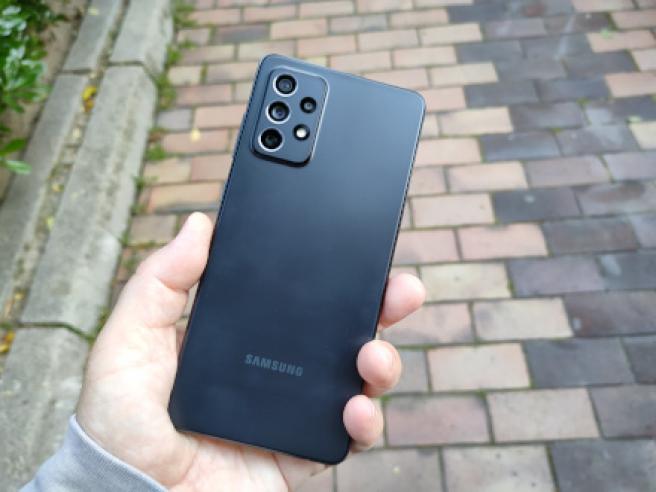 La trasera del Samsung Galaxy A72