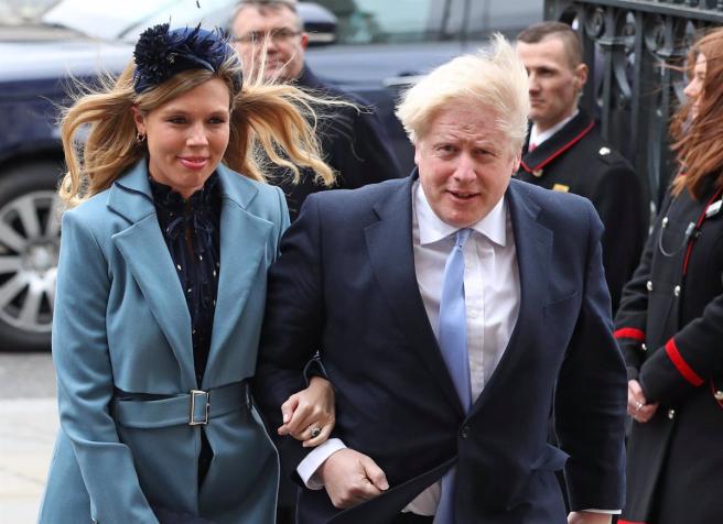 Boris Johnson y Carrie Symonds