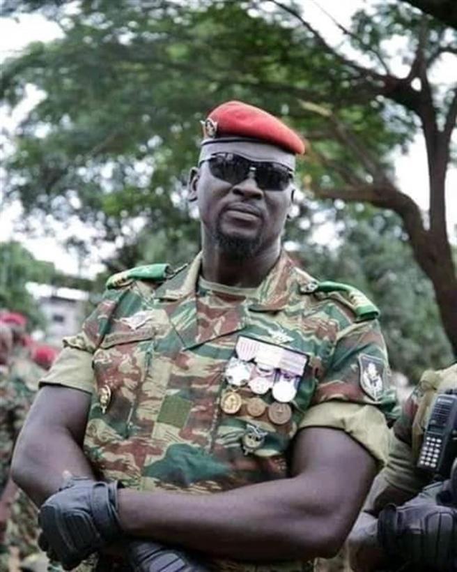 Imagen del coronel golpista Mamady Doumbouya