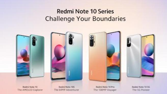 Los cuatro integrantes de la serie Redmi Note 10