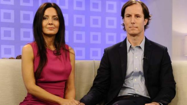 Andrew Madoff y su esposa, Catherine Hooper, en una intervención en televisión.