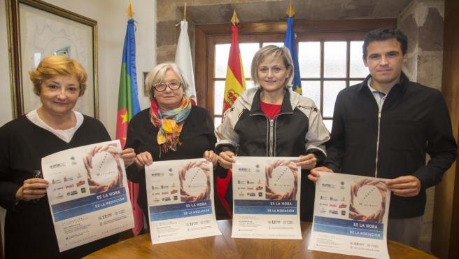 Presentación de la jornada que organizará la próxima semana la Asociación de Mediación de Cantabria (AMECAN) en colaboración con el Ayuntamiento de Camargo.