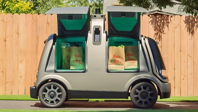 California autoriza vehículos de reparto autónomos.