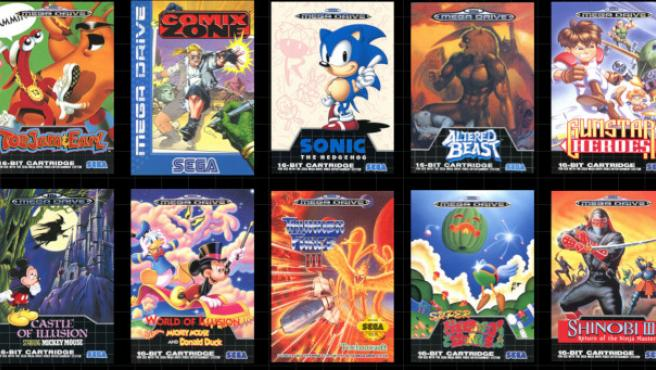 Several of the 42 video games included in the Mega Drive Mini