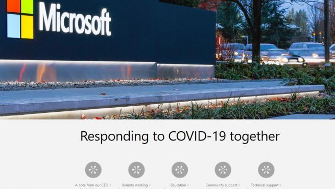 Microsoft pone su granito de arena para ayudar en la lucha contra el coronavirus.