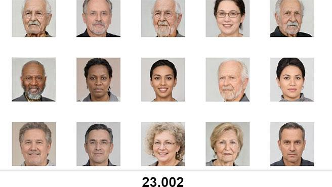 Las 100.000 imágenes de la web se obtienen de 300 fotos.
