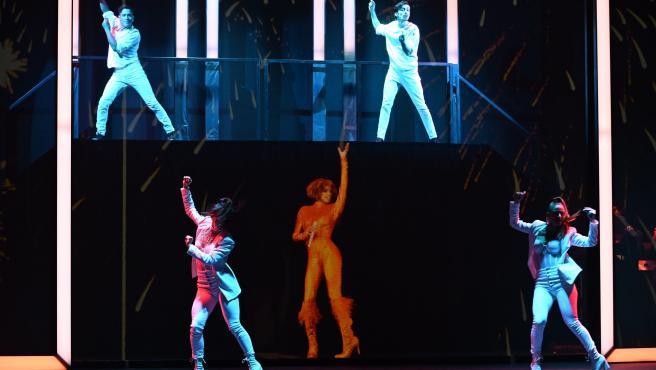 Un momento de 'An Evening With Whitney', un espectáculo internacional que revive a Whitney Houston en holograma.