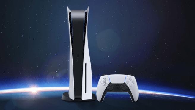 La nueva PS5 tiene un diseño futurista y moderno.