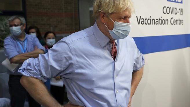 Boris Johnson, en la campaña de vacunación contra la Covid-19 en Reino Unido