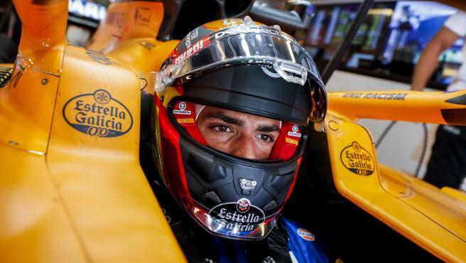 Carlos Sainz, in the McLaren MCL35
