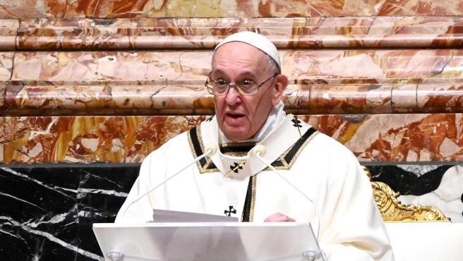 Imagen de archivo del papa Francisco.