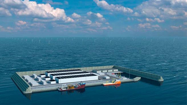 La isla artificial que será una central de energía limpia tendrá una superficie total de 120.000 metros cuadrados.