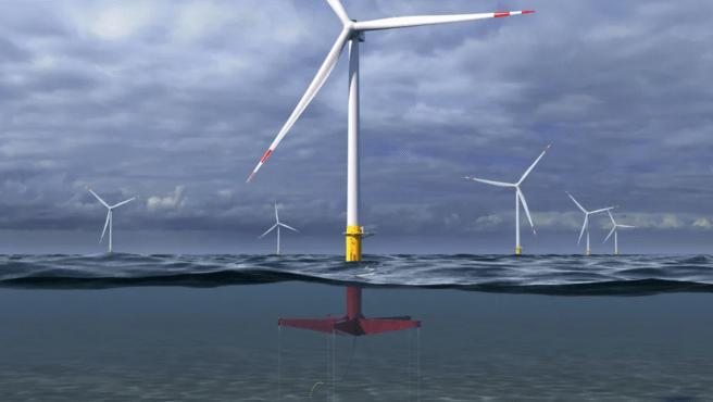 GE usará 'plataforma de piernas de tensión', anclada al fondo marino, para surfear las olas suavemente.