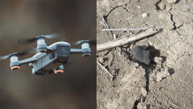 Los drones están programados para volar en un 'campo esparcido' proyectado para la caída reciente de un meteorito.