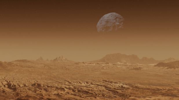 Fobos se sitúa a 9.000 kilómetros de Marte