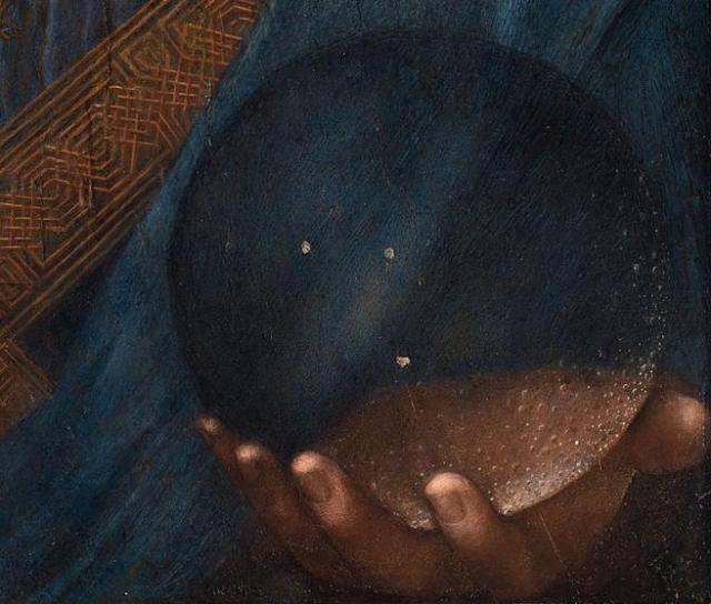 Detalle de la obra 'Salvator Mundi', de Leonardo.