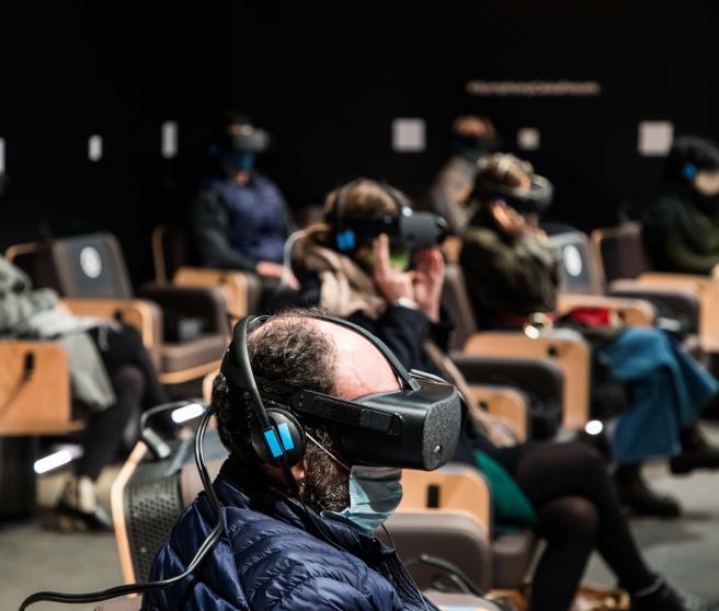 Sala de realidad virtual de 'Symphony'