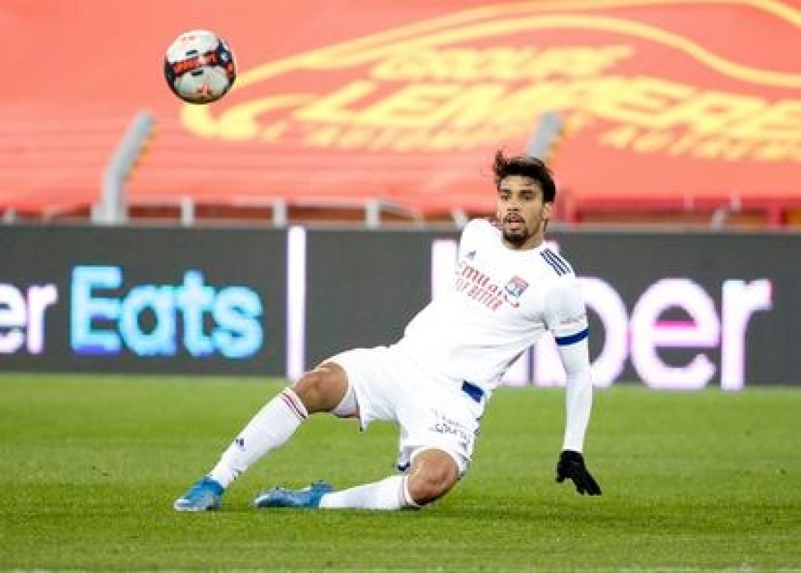 Lucas Paquetá, during a match with Lyon, on April 3, 2021.