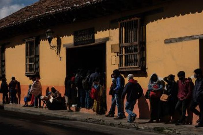 Una sucursal del Banco del Bienestar en el Estado de Chiapas.