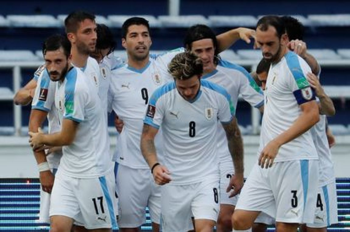 Uruguay's players, during a match in 2021.