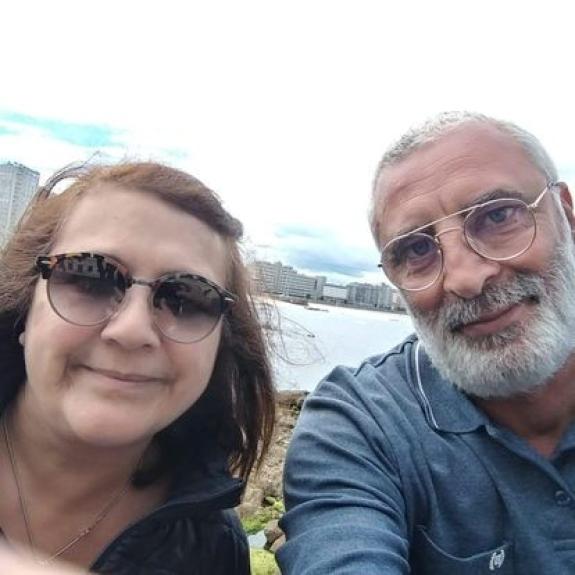 Juana Ruiz and her husband, Elías Rismawi, during a trip to Spain in 2018. Photo courtesy of the family