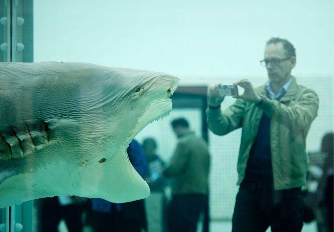 Una de las piezas de Damien Hirst expuestas en el museo Tate de Londres, en 2012.Damien Hirst  Press View - London