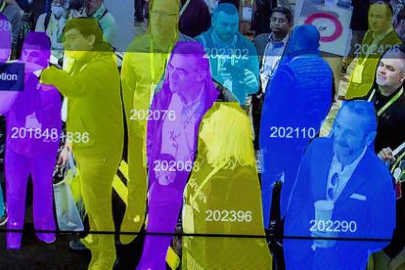 Demostración del uso de la tecnología de reconocimiento facial en el CES de Las Vegas, la mayor feria tecnológica del mundo, en 2019.