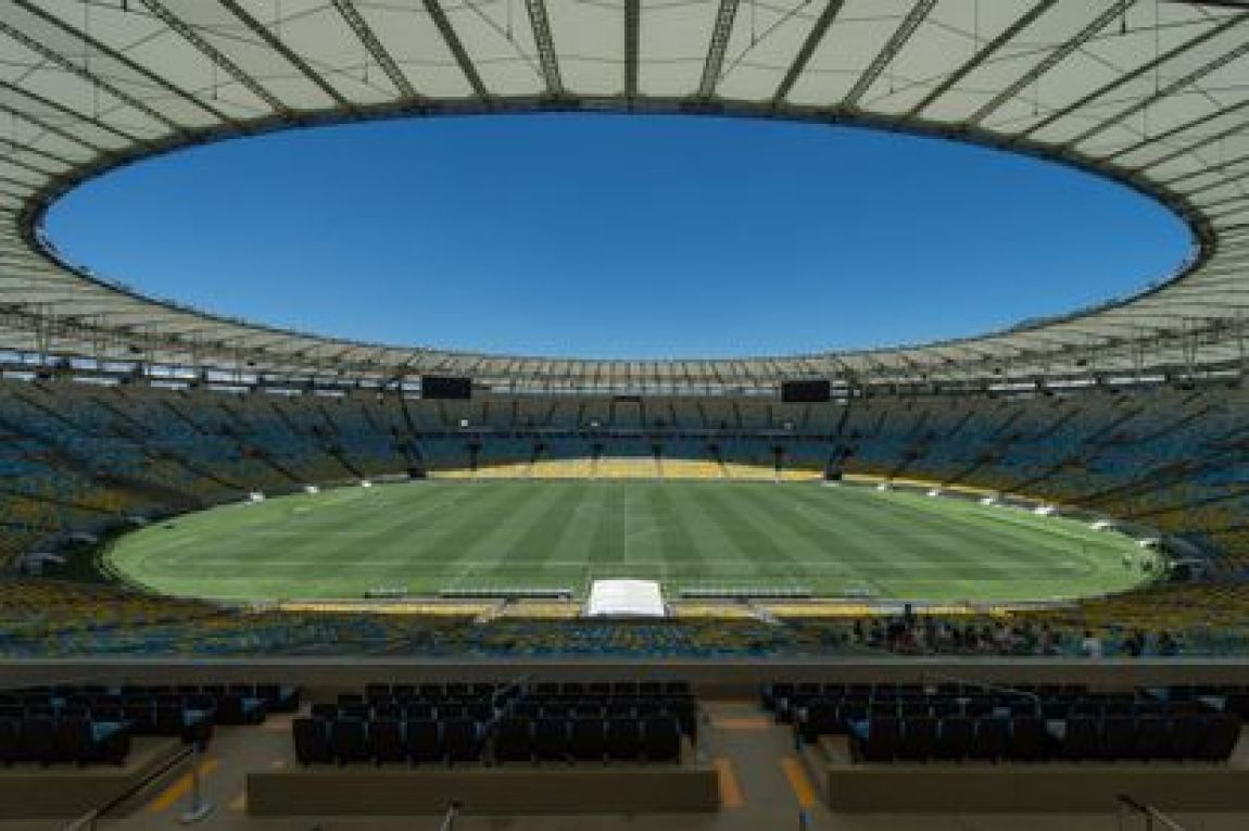 The field of the Maracanã stadium, in Rio de Janeiro, where the final of the Copa América will be played.