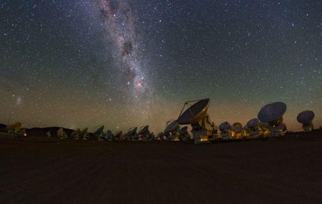 Las antenas del telescopio ALMA, en el desierto de Atacama (Chile).