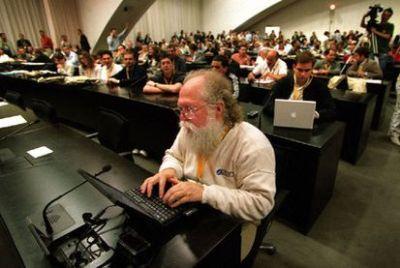 Jon Hall, Linux evangelist.