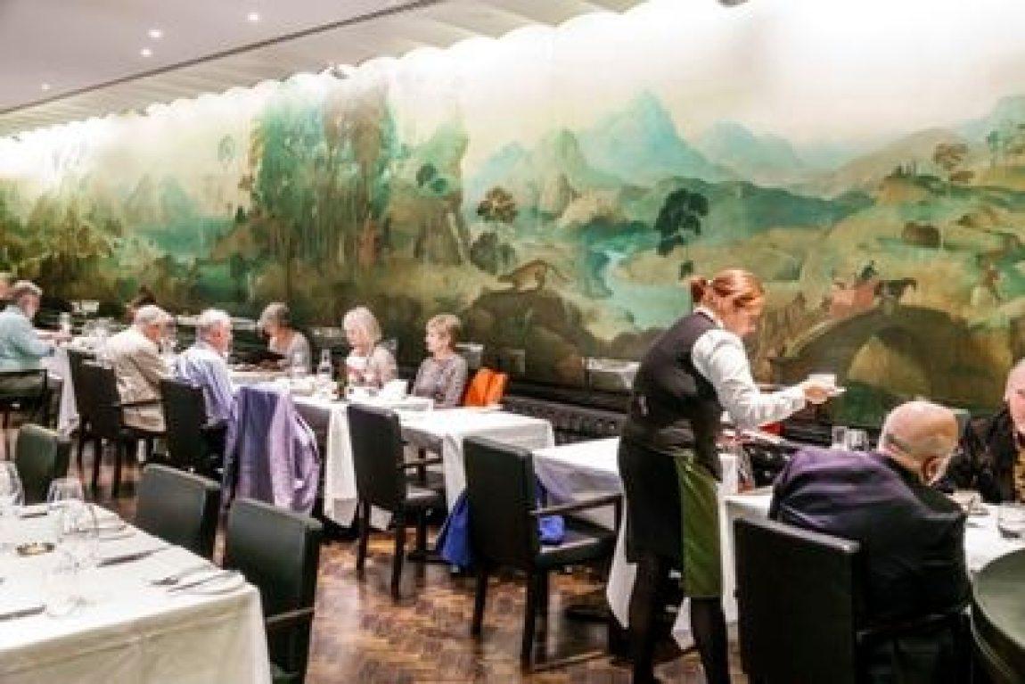 Rex Whistler mural in the Tate Britain restaurant, London.
