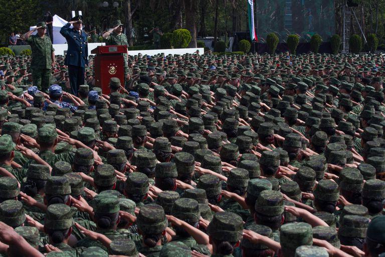 El general mexicano Salvador Cienfuegos, en un acto militar, en 2016.