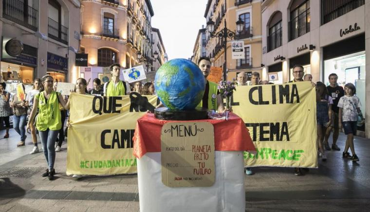 Manifestación por el clima en Zaragoza
