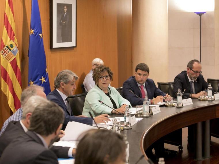 Elisa Sancho ha presidido el pleno ante la ausencia de Miguel Gracia, que estaba de viaje.
