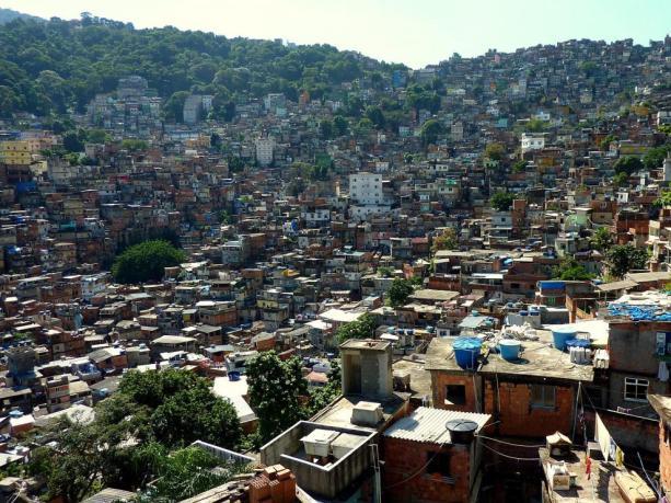 Rocinha es la mayor favela de Río de Janeiro.