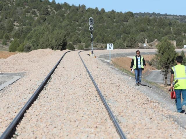 Obras en el ramal ferroviario, Teruel y Puebla de Valverde /04-10-19/foto:Javier Escriche [[[FOTOGRAFOS]]][[[HA ARCHIVO]]]