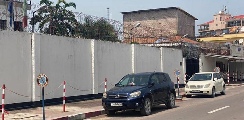 Embajada de Italia en Kinshasa, en la RDC.