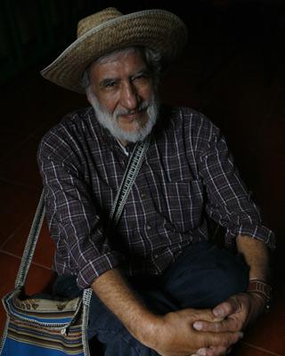 El dirigente indígena campesino peruano Hugo Blanco, en Madrid. - Graciela del Río
