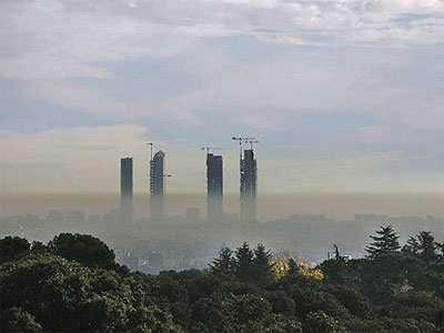 Un Madrid contaminado.