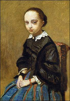 'Retrato de una joven', de Corot.