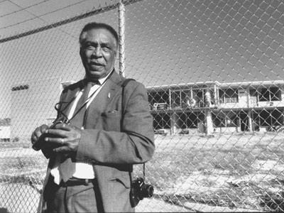 Ernest Withers en el motel donde Luther King fue asesinado.