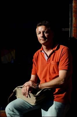 Ricardo Tejeiro, ayer en la Feria del Libro. - Gabriel Pecot