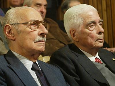 El dictador argentino Rafael Videla en el juicio iniciado el 2 de julio en Argentina.CARLOS ARCO /EFE