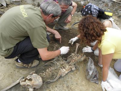 Análisis de los restos encontrados hace un año. - Aranzadi