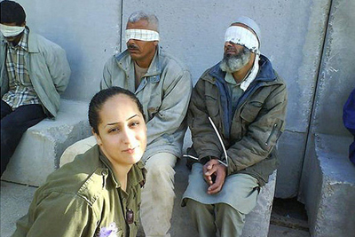 Una de las fotos del perfil de Facebook de la ex soldado israelí.