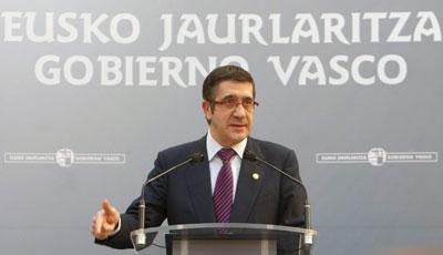 López, durante su discurso ante altos cargos del PNV.