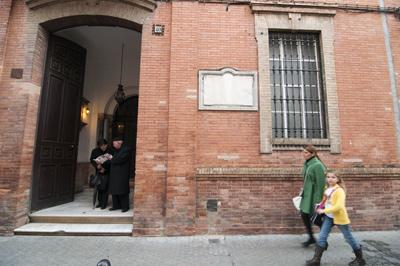 Fachada del edificio sevillano que los sublevados convirtieron en centro de tortura. -