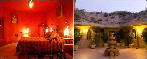 El hotel Cueva-Tardienta-Monegros es una peculiar propuesta troglodita en el desértico paraje de los Monegros.