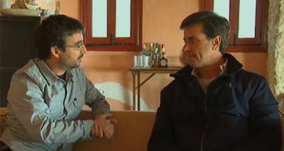 Momento de la entrevista de Jordi Évole a Cayetano Martínez de Irujo.